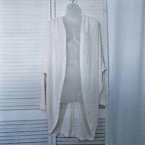 American Apparel cream  long cardigan O/S